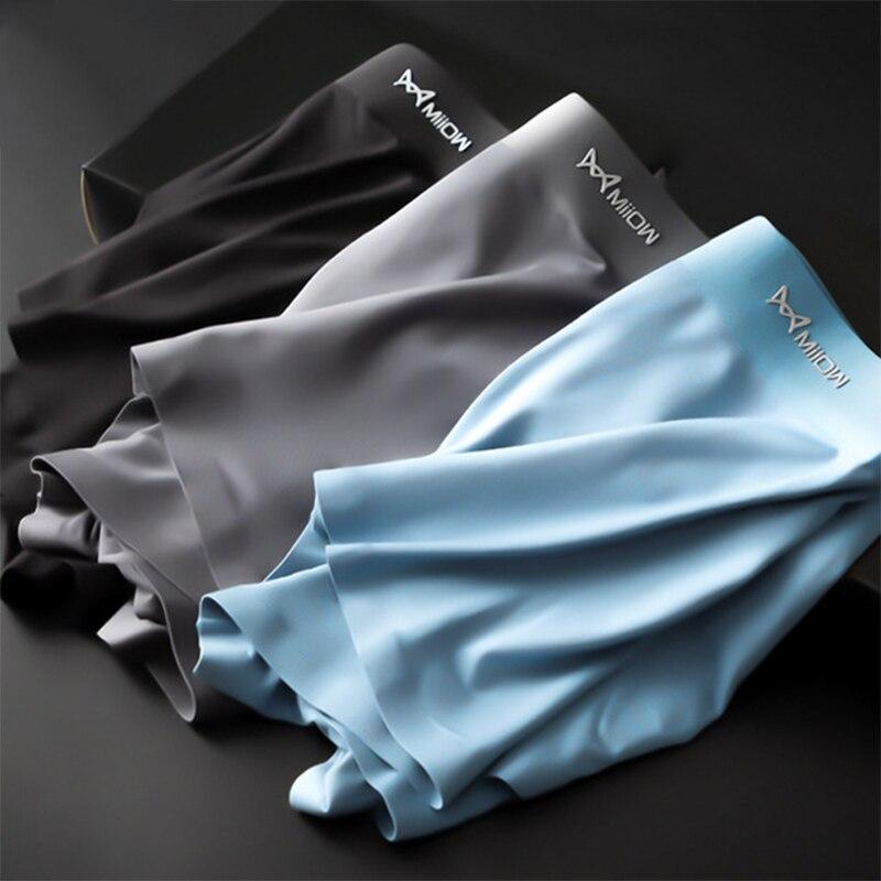 HAKEEM Мужское нижнее белье из модала, шелк со льдом, бесшовные, четыре угла, большой размер, антибактериальные бесшовные комфортные трусы|Боксеры|   | АлиЭкспресс