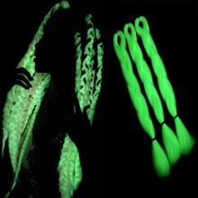 Kanekalon – tresses synthétiques Jumbo au Crochet, 24 pouces, Extensions de cheveux, longues, ombres, fausses tresses fluorescentes pour femmes