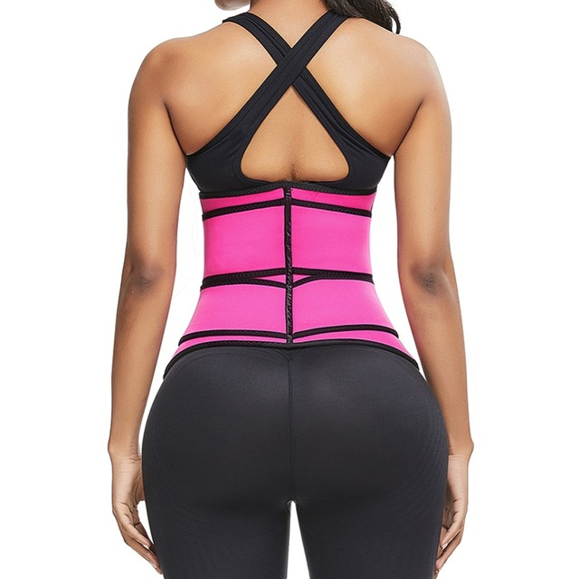 Women Slimming Sheath Waist Trainer Tummy Reducing Shapewear Belly Body Shapers Sweat Strips Sauna Corset Workout Trimmer Belts 3