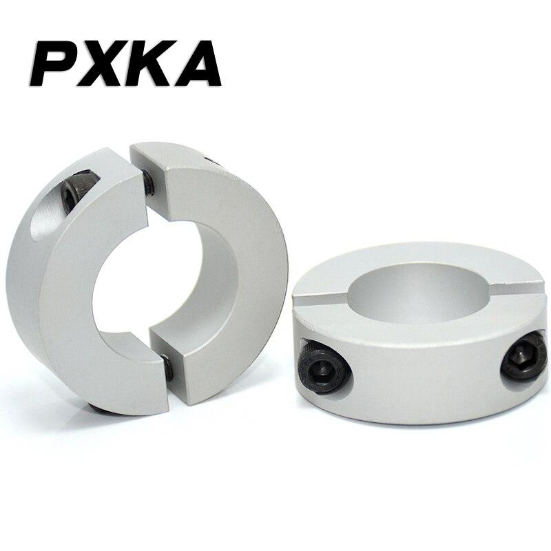 Free Shipping 2PCS Separation Type Optical Shaft Fixed Ring Locking Ring Limit Ring Bearing Fixed Spindle Retaining Ring