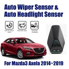 Sistema de Asistente de conducción de coche inteligente, para Mazda 3, Mazda3, Axela, 2014 ~ 2019, Sensor de limpiaparabrisas automático y sensores de faros
