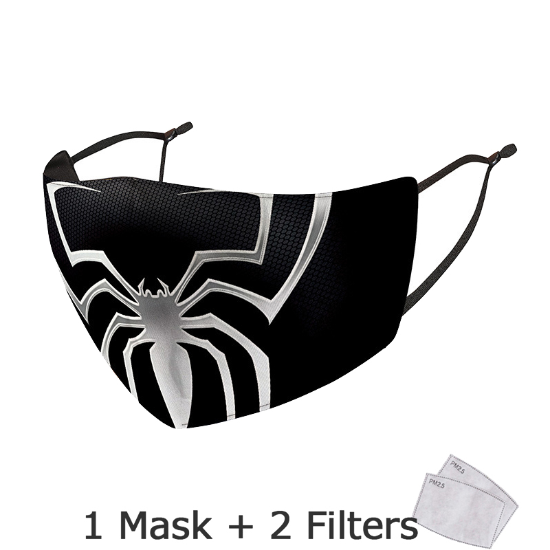 Disney Marvel Superhero Spiderman Mask With Filter Adult Anti Dust PM2.5 Windproof Reusable Mouth Mask Washable mascarillas 5