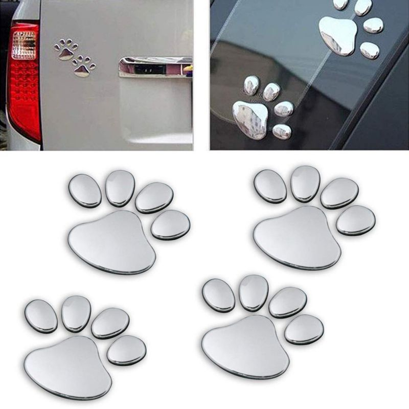Car Sticker 3D Animal Paw Dog Cat Bear Foot Prints Footprint Wall Decoration New