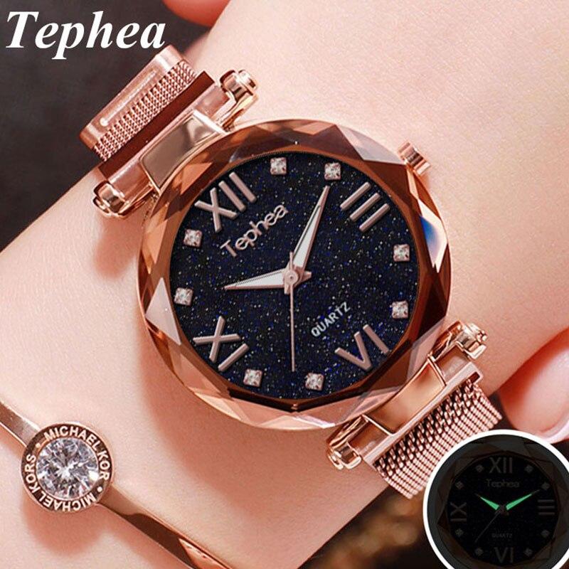 Women Stardust Watch 2019 Starry Sky Ladies Wrist Watch Quartz Clock Luxury Magnetic Mesh Female Clock Relogio Feminino For Gift