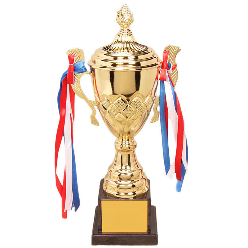 4 Size Customized Metal Trophy Sports Trophy Awards Ceremony Gold-Plated Souvenir Craft Cup For Sport Tournaments Trofeu Futebol