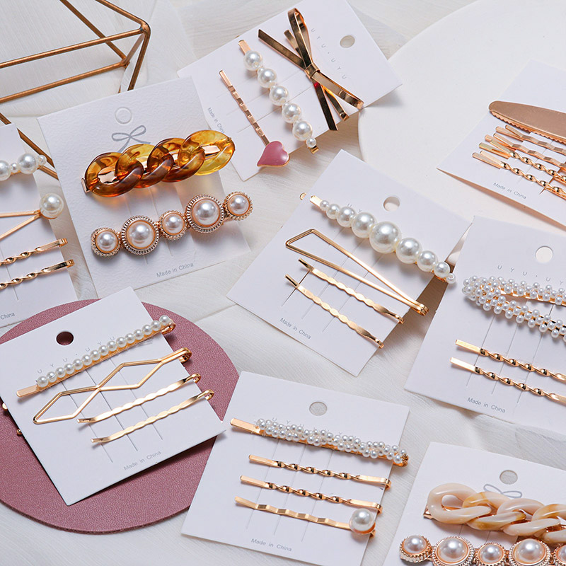Hair-Clip Barrettes Jewelry Pearl Romantic Korea-Style Wholesale Fashion Women for Female