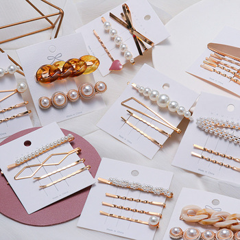 Korea Style Fashion Pearl Hair clip for Women Romantic Female Jewelry  Hairpin 2021 Accessories Hair Stick Barrettes Wholesale 1