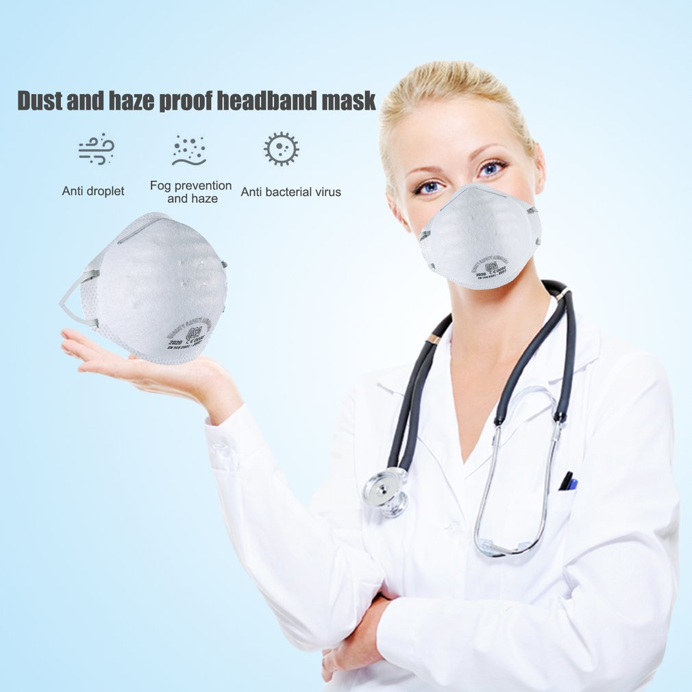 20 Pcs Ffp2 Mask With Valve Non-woven Dust Mask Anti PM2.5Anti Influenza Breathing Bicycle Riding Mask Safety Masks Face Care