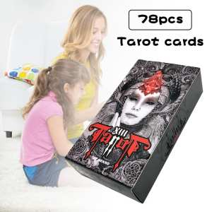 Game Darks Spanish for Women 4-Style Playing-Cards Divination Tarot-Cards-English Mysterious