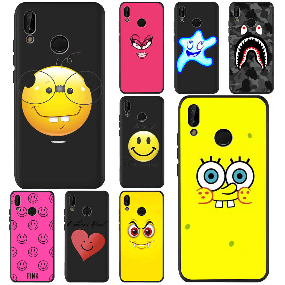 Lachend gezicht DC Voor Huawei p20 Pro P20 Lite P30 P9 P8 P10 Honor 8X9X10 20i cover Etui Funda Capa Shell Capinha Patroon Case