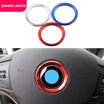 Jameo Auto Car Decoration Ring Steering Wheel Trim Circle Sticker for BMW M3 M5 E36 E46 E60 E90 E92 F48 F30 X1 F48 X3 X5 X6 image