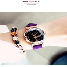 цена на Luxury Women Watches Starry Sky Female Clock Quartz Wristwatch Fashion Women Ladies Wrist Watch reloj mujer relogio feminino