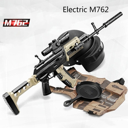 Страйкбольное пневматическое оружие, электрическая версия M762, пластиковый безопасный гелевый пистолет, пистолет для воды, пейнтбола, пулев...