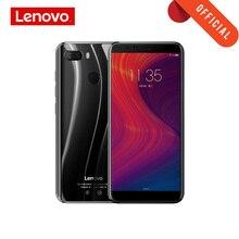 Küresel sürüm Lenovo K5 oyna 3GB 32GB 18:9 tam ekran parmak izi kimlik 13MP çift kamera 5.7 inç akıllı telefon Snapdragon 430 cep