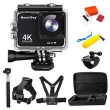 Водонепроницаемая Экшн-камера Ultra HD 4K 1080P с ЖК-дисплеем и Wi-Fi, Спортивная видеокамера для перекодирования, подводные камеры