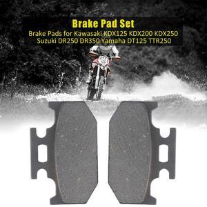 Front Brake Pads 1 Set Motorcycle Brake Pads Universal for Kawasaki KDX125 KDX200 KDX250 Suzuki DR250 DR350 Yamaha DT125 TTR250(China)