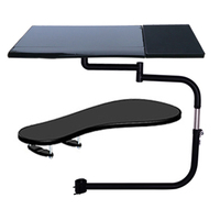 D mount OK330 Multifunctional Full Motion square Keyboard Support Laptop Desk Holder Stainless steel 20kg+chair clamp Mouse Pad