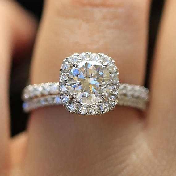 高級女性の AAA ジルコンリングセット 925 スターリングシルバーウェディングバンドリングジュエリー約束の婚約指輪