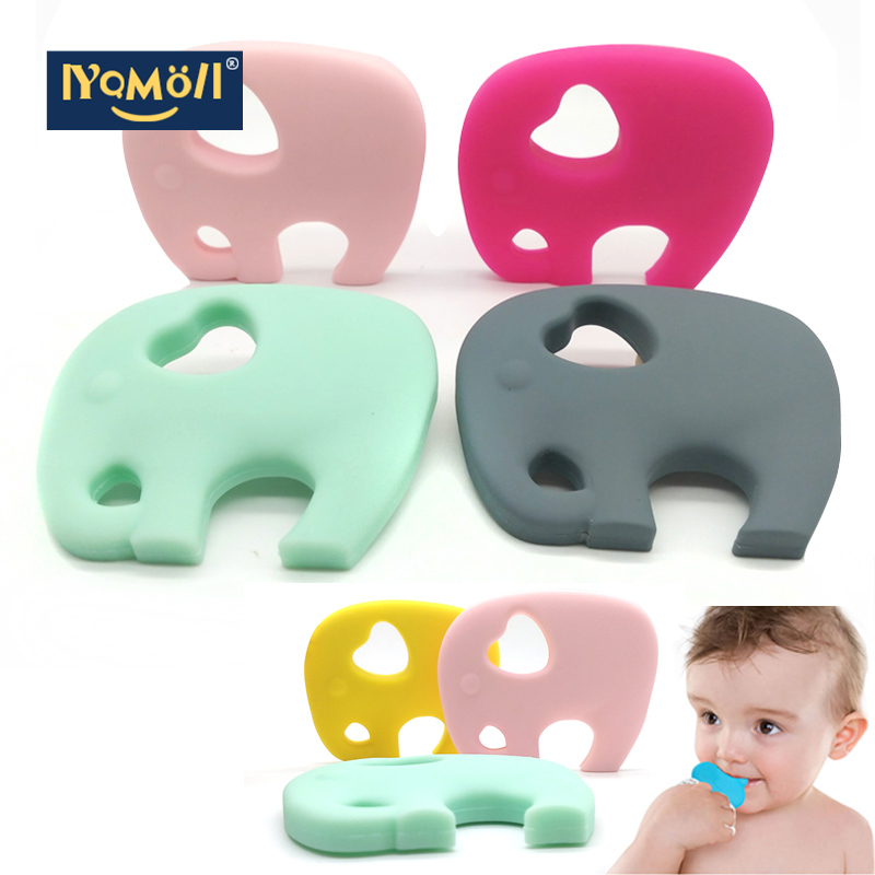 Silicone Teething Toy Baby Teether Beads DIY Chew Necklace Nursing Pendant