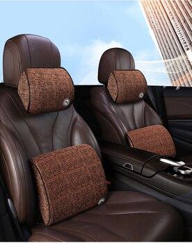 Автомобильный хлопковый подголовник с эффектом памяти, подушка на шею, подушка на талию, Автомобильная подушка для Mercedes Benz Smart Fortwo 2009-2013 Smart ...