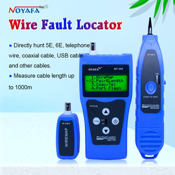 LCD Wire Fault Locator NF-308 Blue color  Coacial BNC usb lan cable finder Network cable tester RJ45  RJ11 NF_308