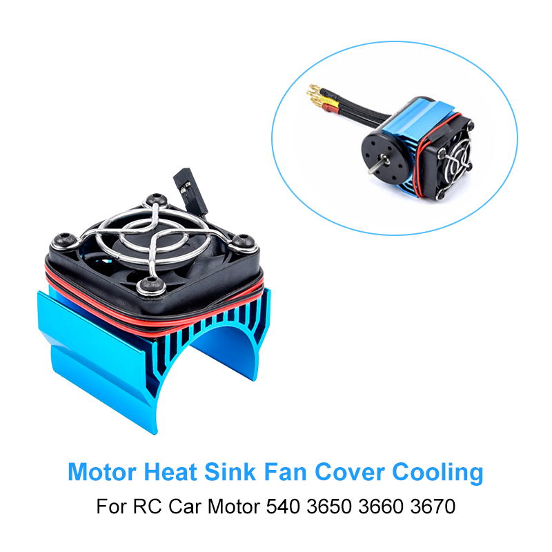 Cooling Fan for 1:10 HSP RC Car a Electric Car brushless Motor Heatsink Cover