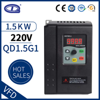 QD350 VFD 1.5W 1 phase input and 3 phase output 220V frequency converter ac motor drive VSD VFD 50Hz 60Hz inverter