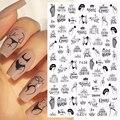 1 шт. пикантные женские дизайн 3D ногтей Стикеры английскими буквами и принтом в виде мордочки для Trasnfer ползунки «сделай сам», нейл-арта украш...