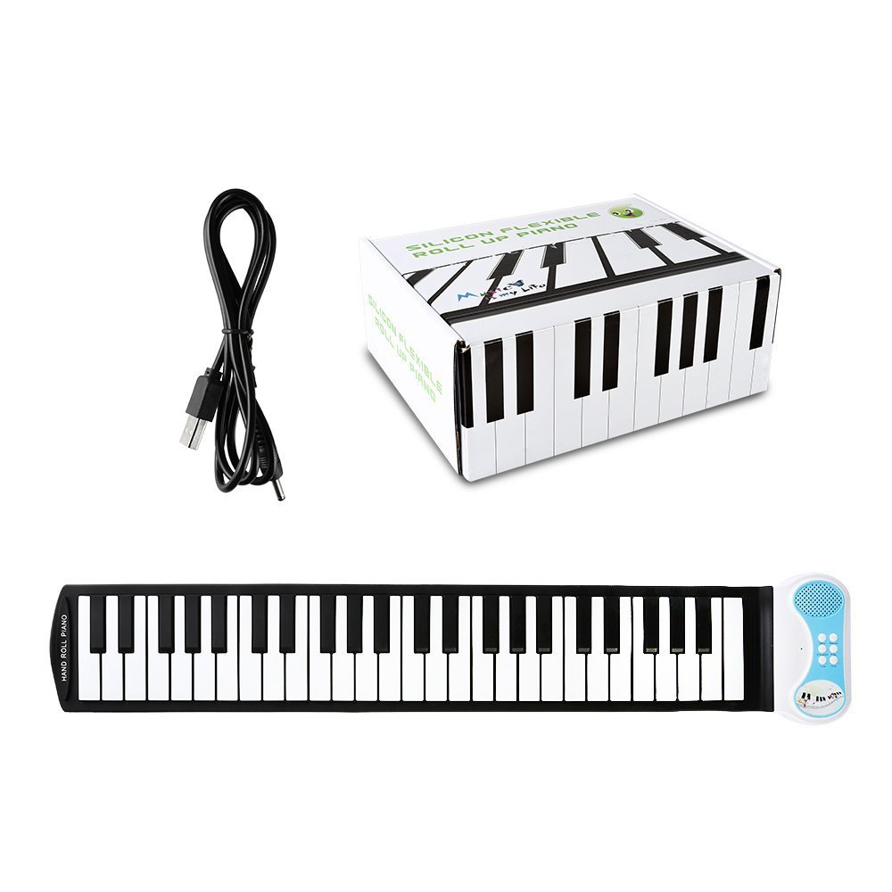 49 Keys With Trumpet, Hand Roll, Piano, Portable Folding Electronic Piano, The Piano That Can Be Rolled Up, Children Learn To Pr