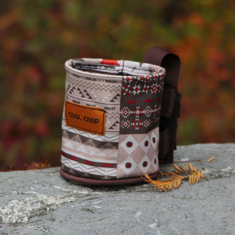 Outdoor Camping Cup Kettle Case Mountaineering Bag Water Cup Case Bike Seat Chair Side Cup Holder Multi Functional Storage Rack
