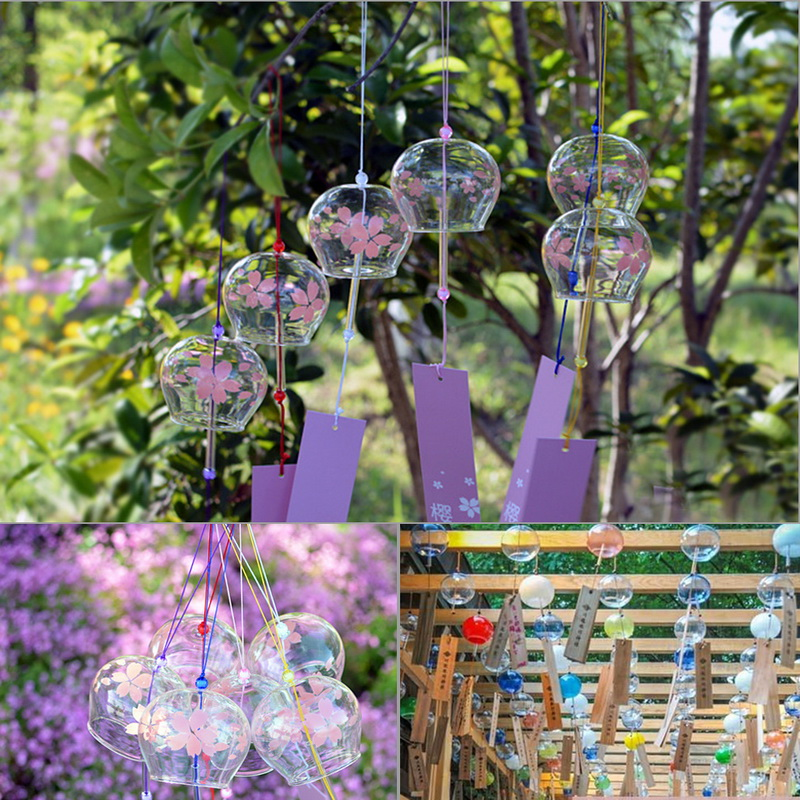Wind Light Japanese Style Glass Gift Wind Bell Hanging Wind Ornaments for Attractions Car Decor Home Kindergarten