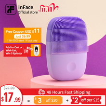 Inface Upgrade Version Facial Cleansing Brush Electric Sonic Face Brush Deep Cleaning Waterproof Tool