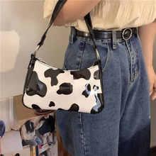 Женская сумочка Багет в стиле ретро из коровьей кожи