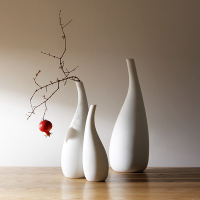><font><b>Nordic</b></font> Minimalist Style Water Flowers Vase <font><b>Decoration</b></font> Vases Pure White Vegetarian Dried Flower Flower Vases <font><b>Home</b></font> Furnishings