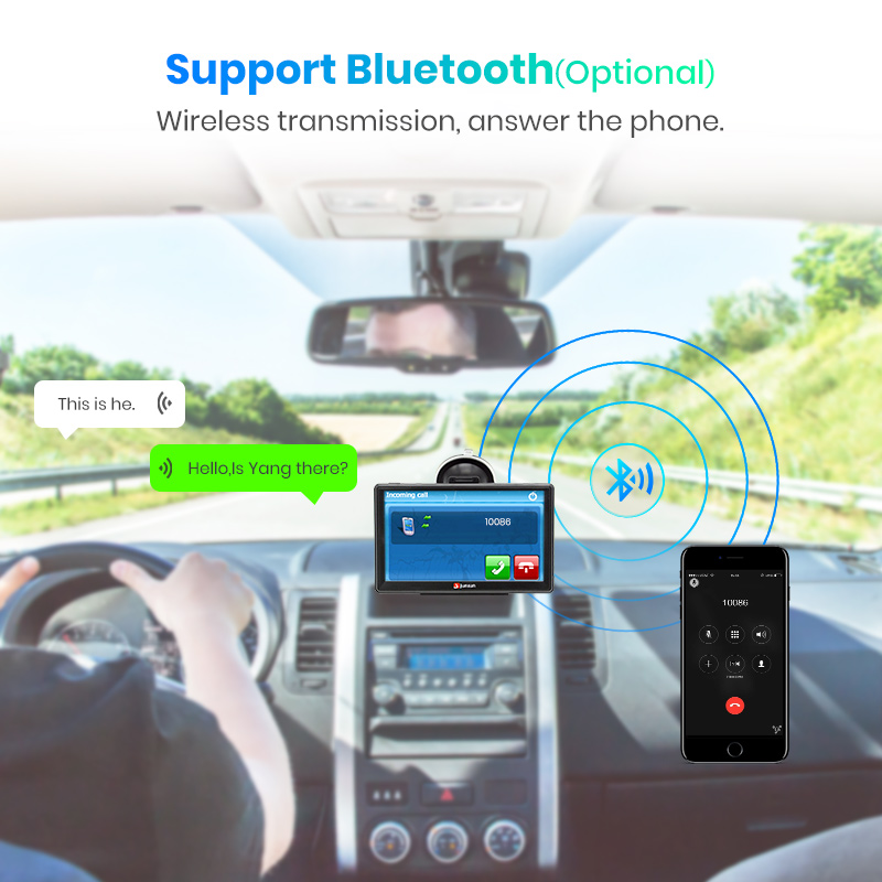 "Image 3 - Junsun D100 7"" HD Car GPS Navigation FM Bluetooth AVIN Navitel 2018 latest Europe Map Sat nav Truck gps navigators automobile-in Vehicle GPS from Automobiles & Motorcycles"