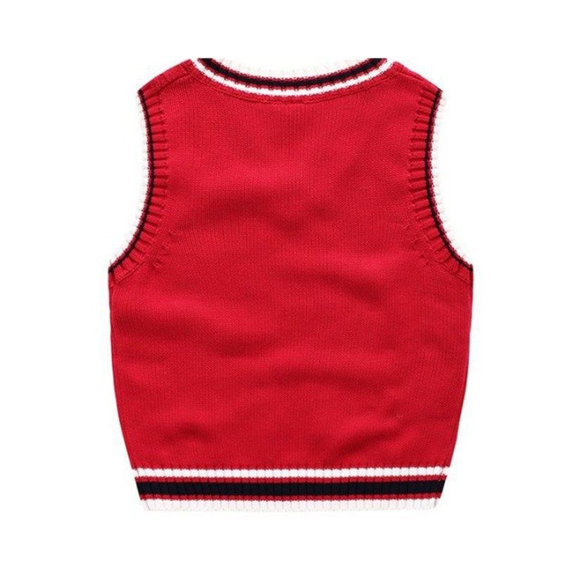 Autumn And Winter School Uniform Vest Boy Knitted Sweater Boy Sweater Autumn Children's Sleeveless Vest 6