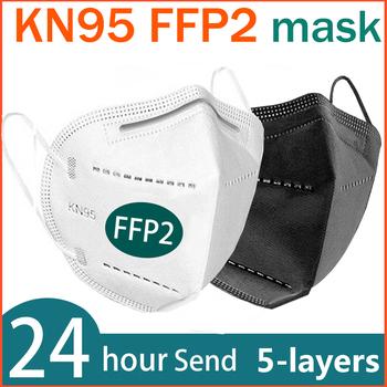 FFP2 maska na twarz KN95 maseczki do twarzy filtracja maska maska przeciwpyłowa maska do ust chroń maski przeciw grypie masque tapabocas tanie i dobre opinie NoEnName_Null Chin kontynentalnych EN 149-2001 + A1-2009