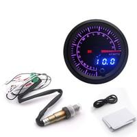Indicador LED de relación aire-combustible para coche, dispositivo con Sensor de oxígeno, Narrowband O2, 52mm, 7 colores, 12V, OEM: 0258006028