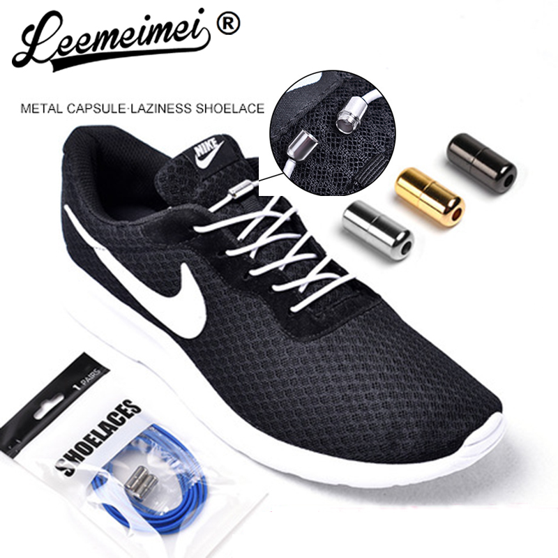 No Tie Shoelaces Metal Lace Lock With Elastic Shoe Laces System For Sneaker Running Shoes For Kids And Adults