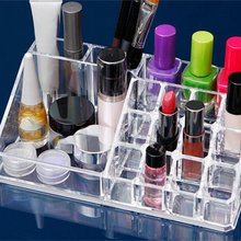 Transparent Crystal Lipstick Rack Conrtainer Jewelry Display Stand Set Powder Cushion Jewelry Drawer Storage Holder