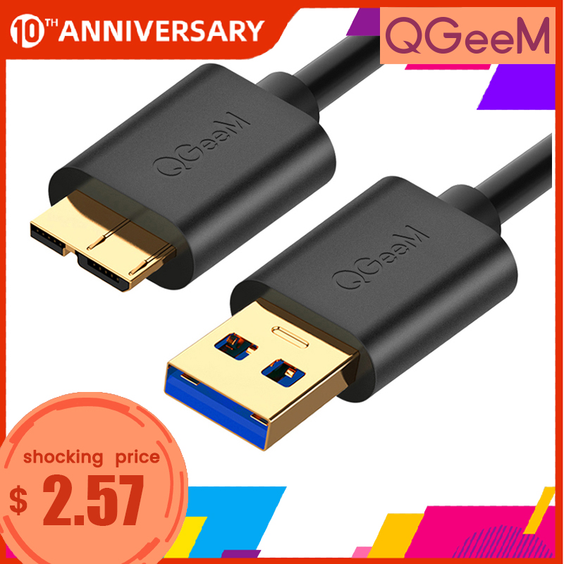 QGEEM 1.5M USB 3.0 Type A to Micro B Cable For External Hard Drive Disk HDD Samsung S5 Note3 USB HDD Data Cable|3.0 micro usb cable|1.5m usb|usb 3.0 cable 1.5m - AliExpress
