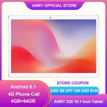 2020 nueva 10,1 pulgadas Tablet Pc Deca Core Android 8,1 ANRY X20 Google Netflix 4G LTE tabletas Dual Wifi GPS 1920x1200 Tablet 10