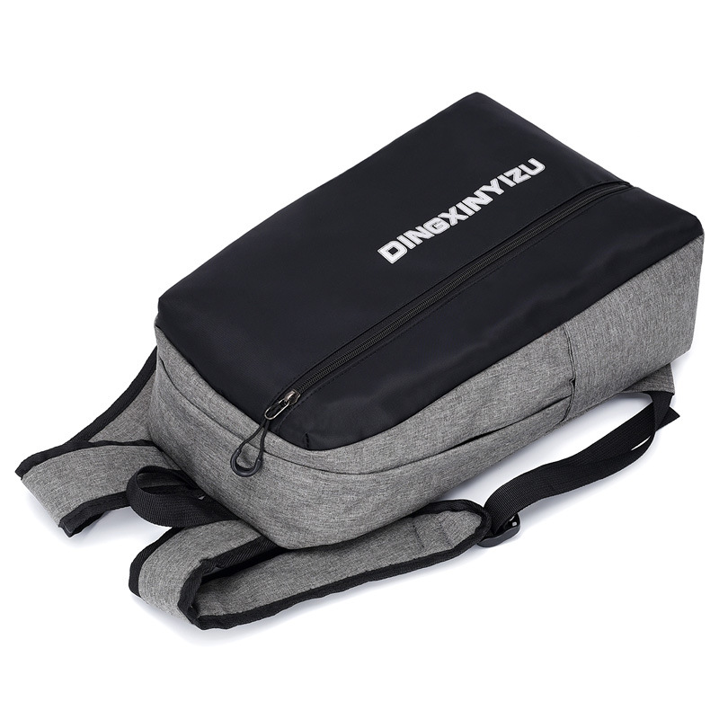New junior high school student bag waterproof backpack female USB charging backpack outdoor  Zipper  Softback  Unisex