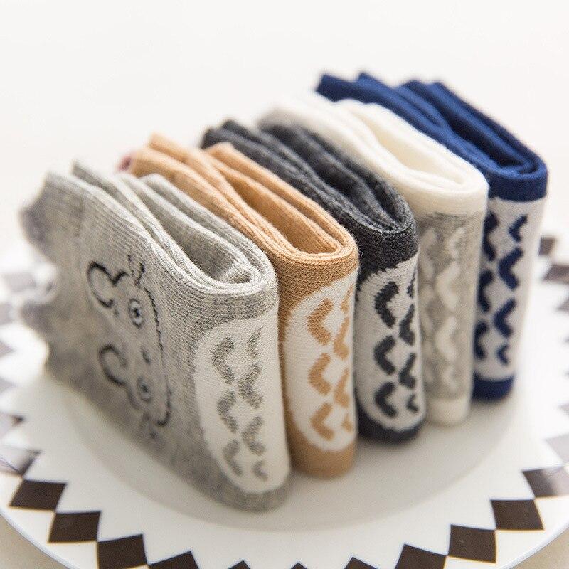 Korean-style Cartoon Cotton CHILDREN'S Socks Baby Socks Totoro Stereo Ear Comfortable Men And Women Children Socks