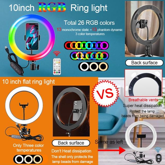 Orsda 10-12 Inch Led Ring Light With Tripod RingLight Selfie Ring Light for Makeup Video Live Aro De Luz Para Hacer Tik Tok 3
