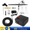 PISTOLA DE PULVERIZACIÓN de doble acción, aerógrafo con compresor de 0,3mm, Kit de aerógrafo para uñas, modelo/pastel/Pintura de coches