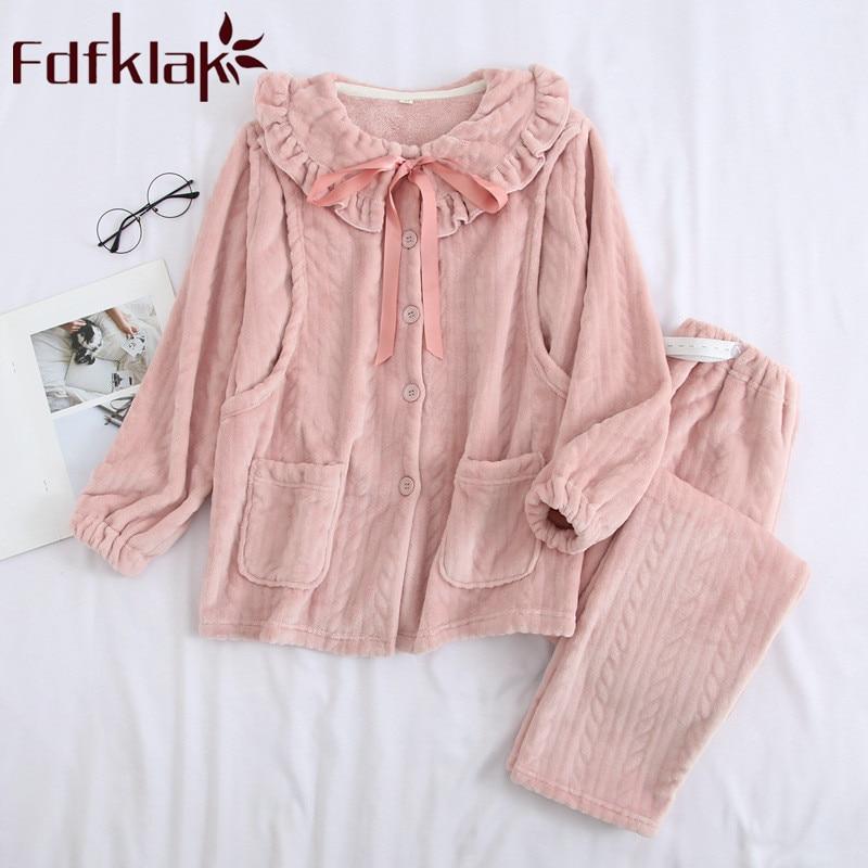 fdfklak flanela pijama para a mulher gravida de manga longa sleepwear pijama de enfermagem da maternidade