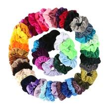 30 шт. бархатные Однотонные резинки для волос, эластичные Простые резинки для волос для женщин или девочек, аксессуары для волос, diademas para el pelo mujer 30H