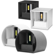 Светодиодный настенный светильник водонепроницаемый IP65 12 Вт подсветка крытый и открытый регулируемый настенный светильник для двора крыльца коридора спальни бра