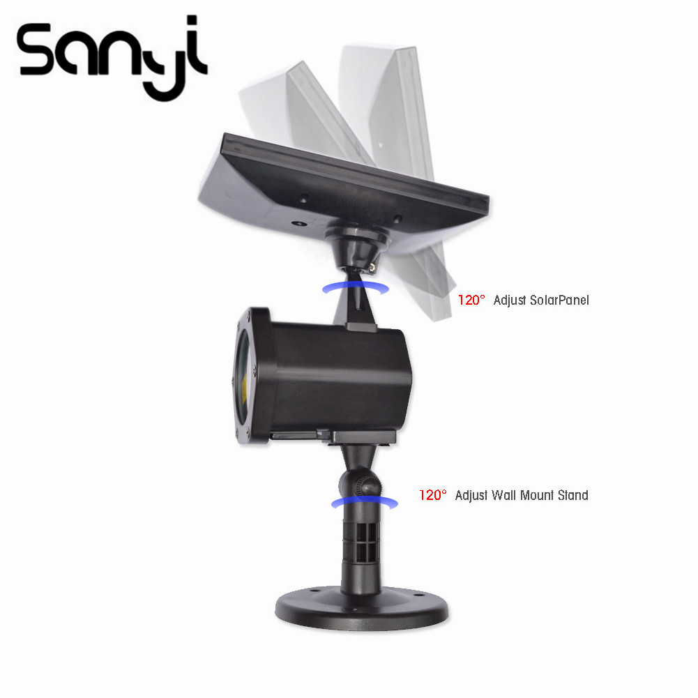 Sanyi LED Laser Projector Lamps Waterproof Solar Lawn Light Powered Ground Light Round Base Laser Fariy Light Projection